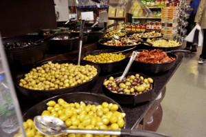 La Bottega, the olive bar