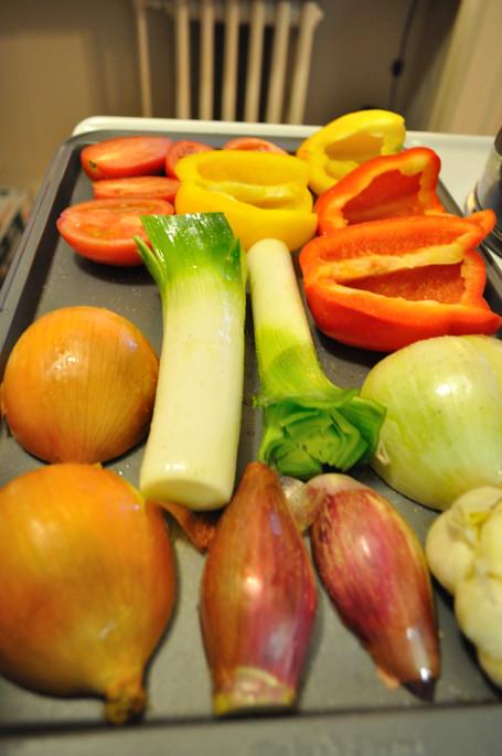 Vegetables, ready for roasting