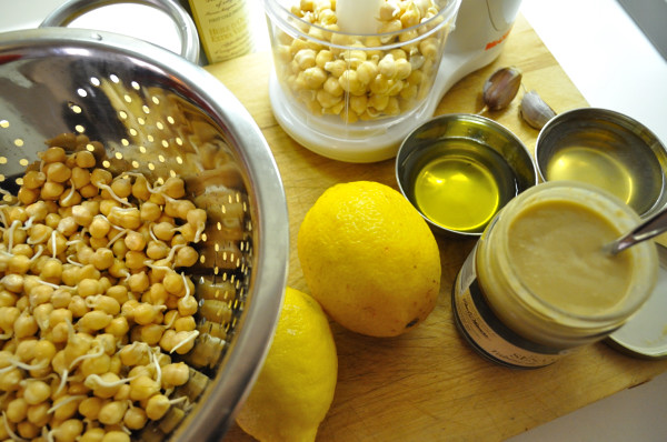 Sprouted hummus ingredients