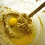 Cream together butter, sugar, eggs & vanilla