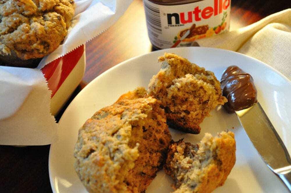 Banana Muffins & Nutella - Food Gypsy
