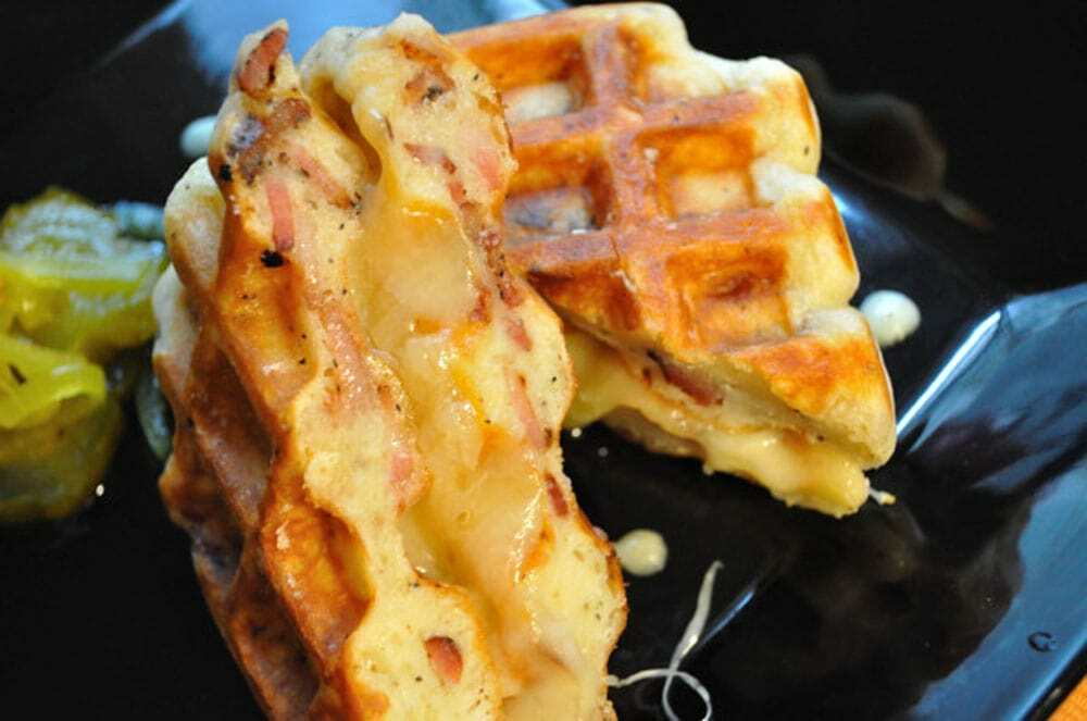 Bacon Waffle Grilled Cheese - Food Gypsy