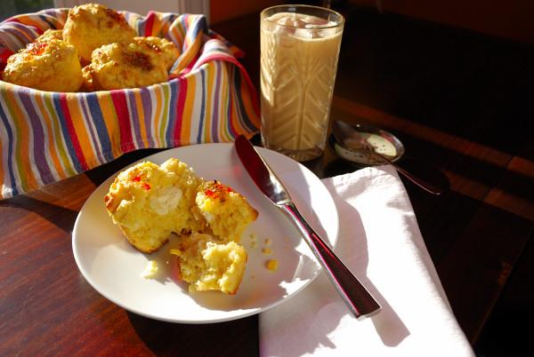 Chili Cheese Cornbread Muffins, surprise.