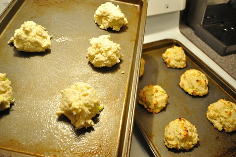 Blue Cheese Scallion Biscuits - Food Gypsy