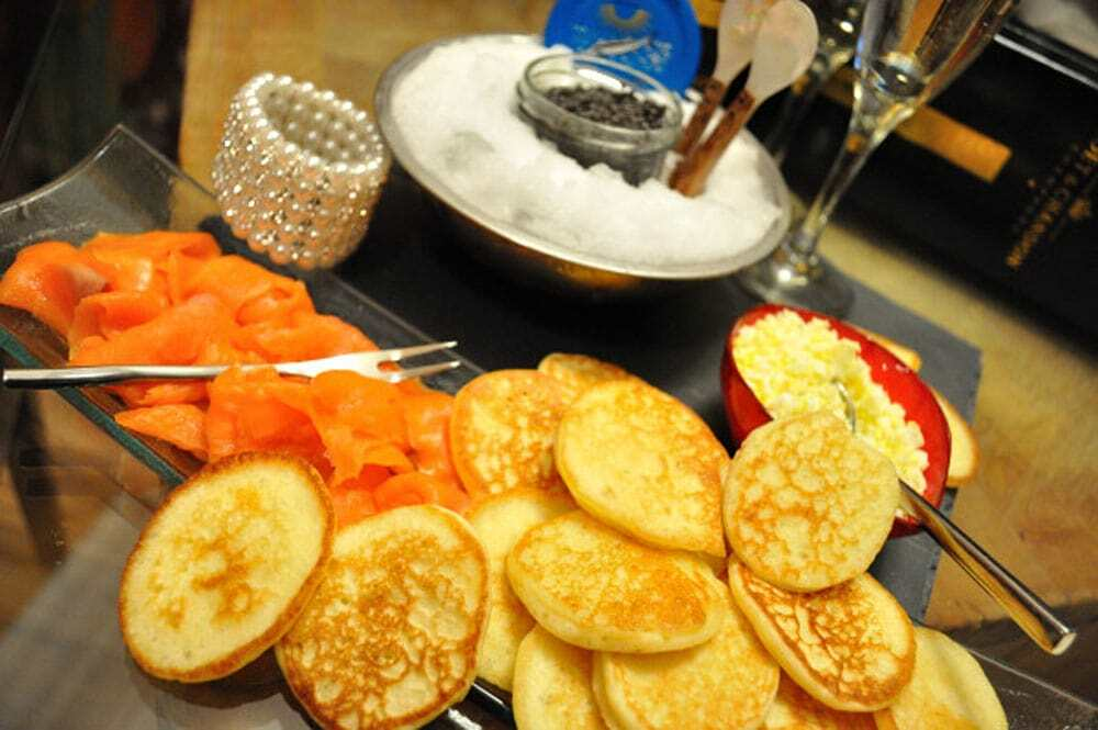 Blinis Served With Caviar - Food Gypsy