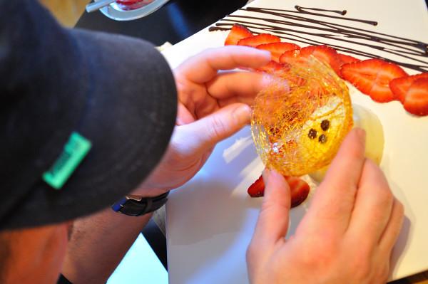 Chef B carefully plates - Food Gypsy