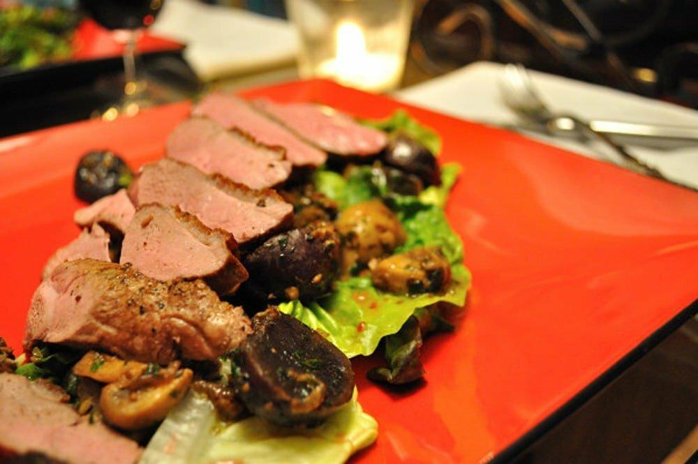 Seared Duck Breast, Truffled Potatoes & Mushrooms - Food Gypsy