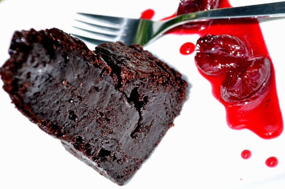 Chocolate Cherry Brownie - Food Gypsy