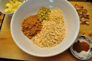 Crumble ingredients - Food Gypsy