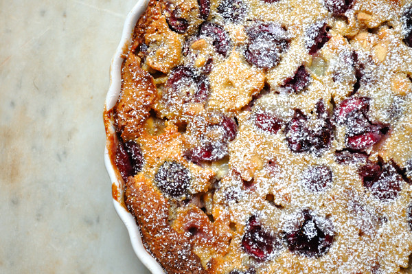 Cherry Clafoutis with White Chocolate - Food Gypsy