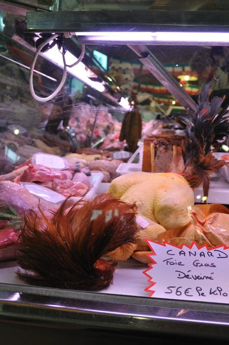 Poultry on display, Les Halles - Food Gypsy
