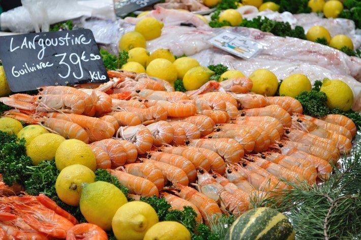 Seafood on display, Les Halles - Food Gypsy