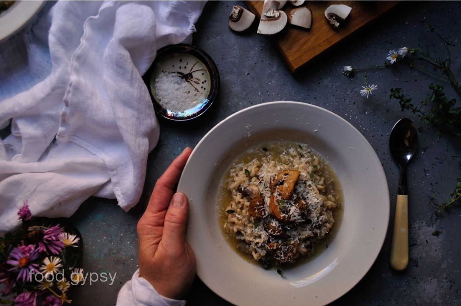 Mushroom Risotto Recipe, Food Gypsy-0920