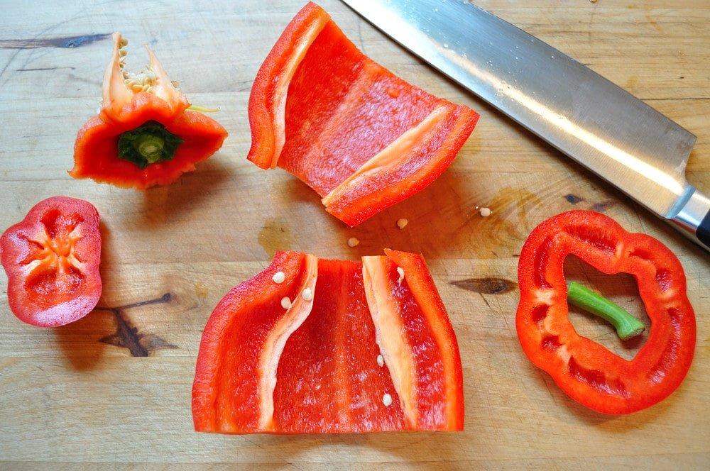 Cutting Peppers - Food Gypsy