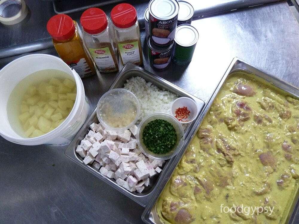 Trini Roti mise en place - Food Gypsy