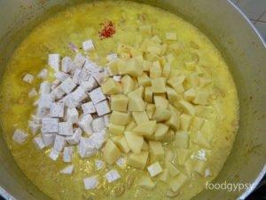 Add liquid, starches and heat - Food Gypsy