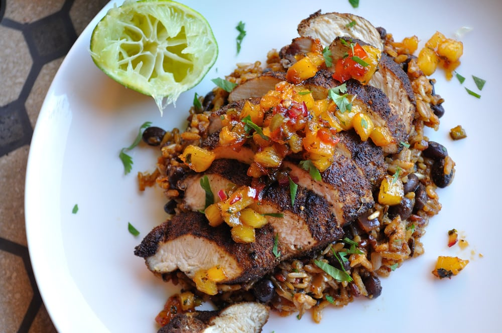 Mexican Blackened Chicken With Jalapeno Black Beans & Rice - Food Gypsy