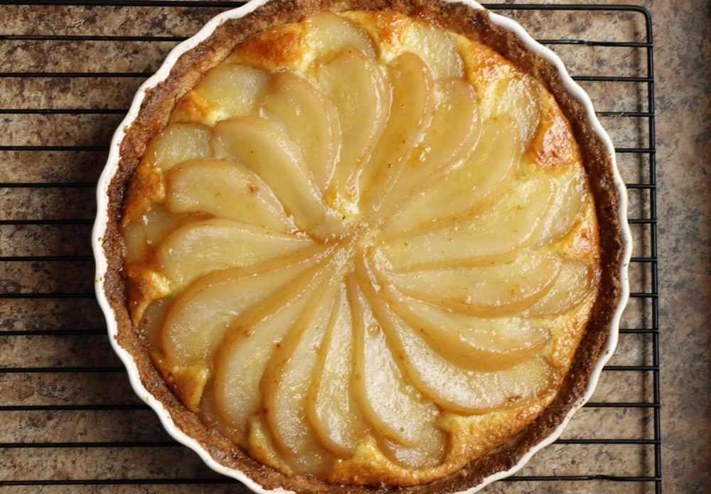 Almond Pear Tart - Food Gypsy