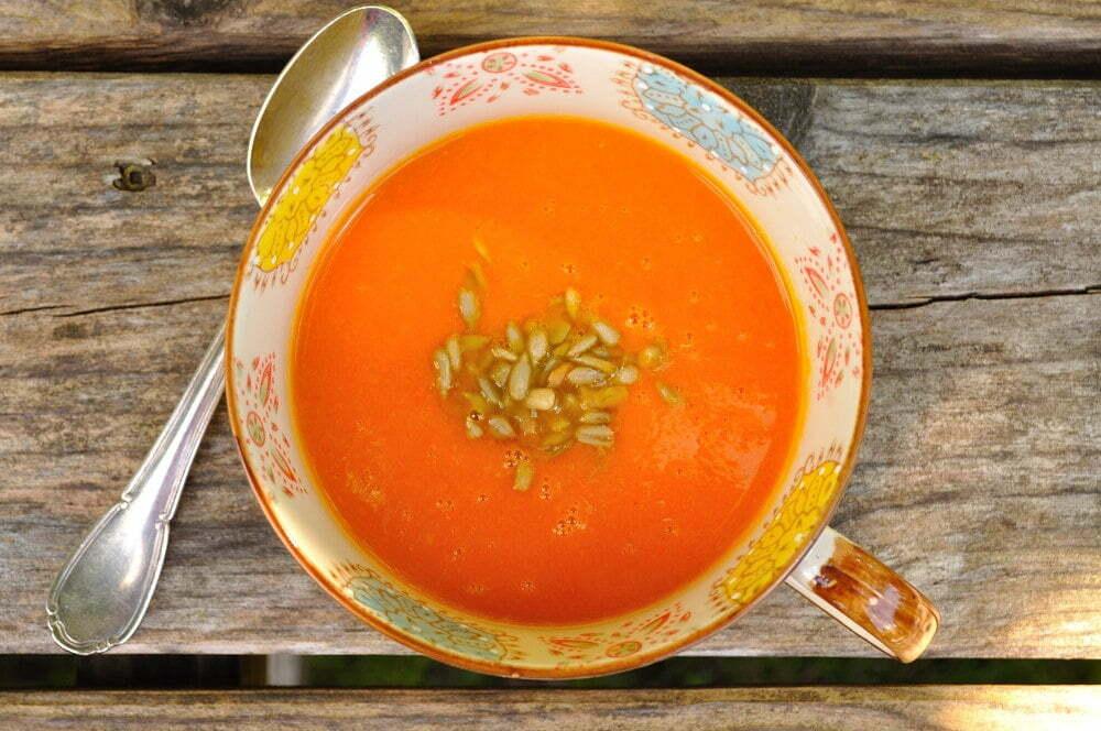 Sweet Carrot Coconut Soup - Food Gypsy