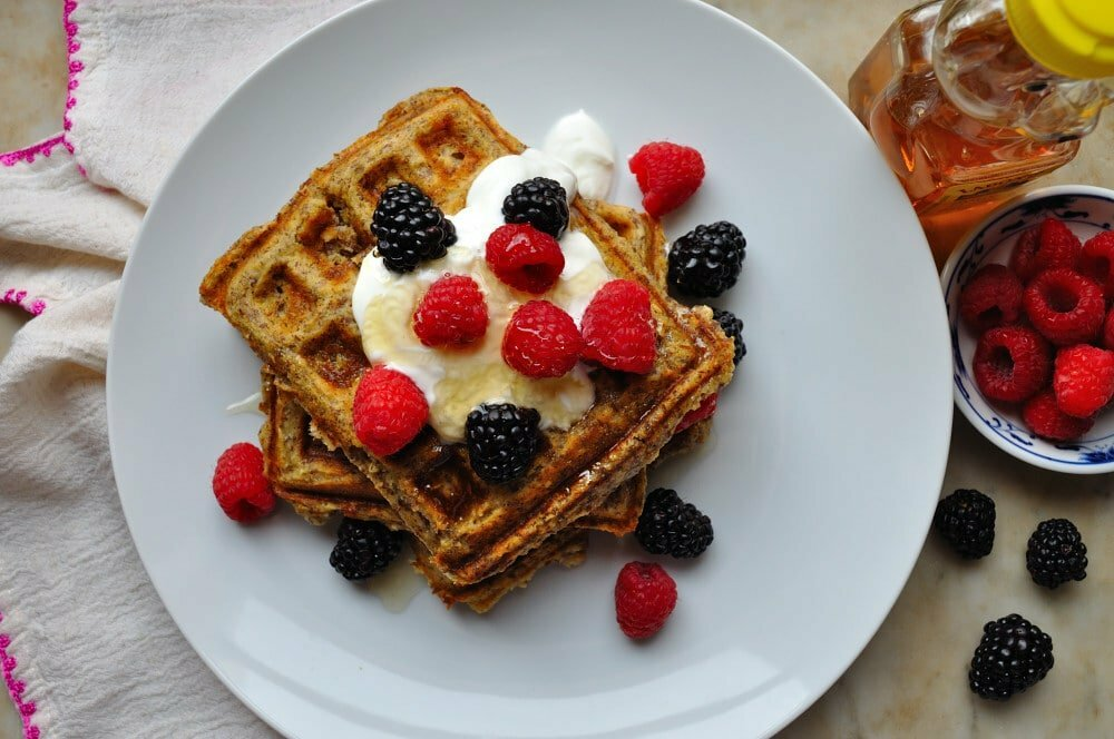 Oatmeal Flax Waffles - Food Gypsy