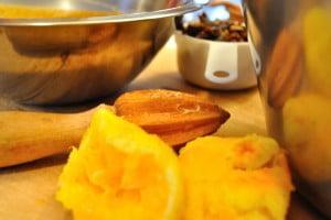 Orange Date Pumpkin Bread, oranges - FG