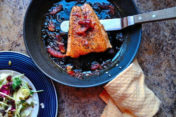 Blood Orange Glazed Salmon - Food Gypsy