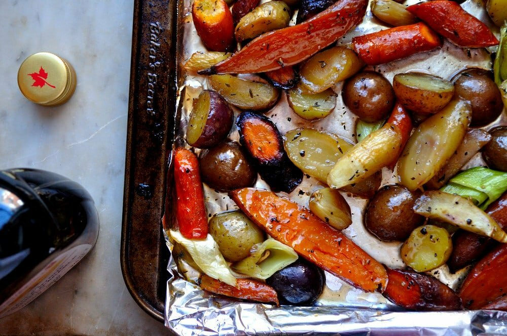 Maple Roasted Root Vegetables - Food Gypsy