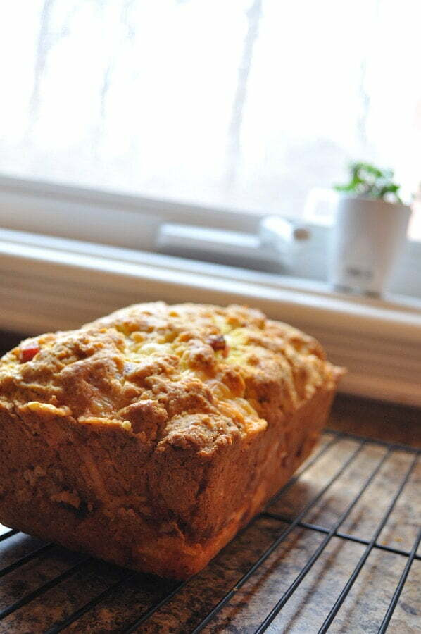 Savoury Ham & Cheese Loaf, cooling - FG