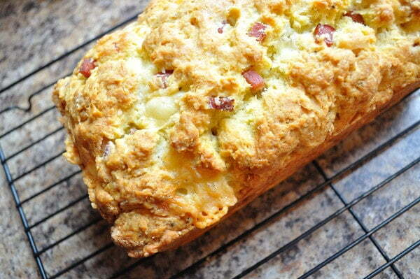 Savoury Ham & Cheese Loaf, top - FG