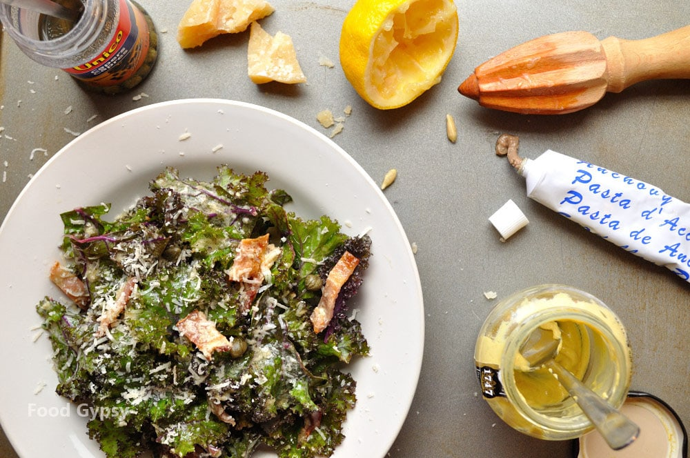 Kale Caesar Salad, Lead - Food Gypsy
