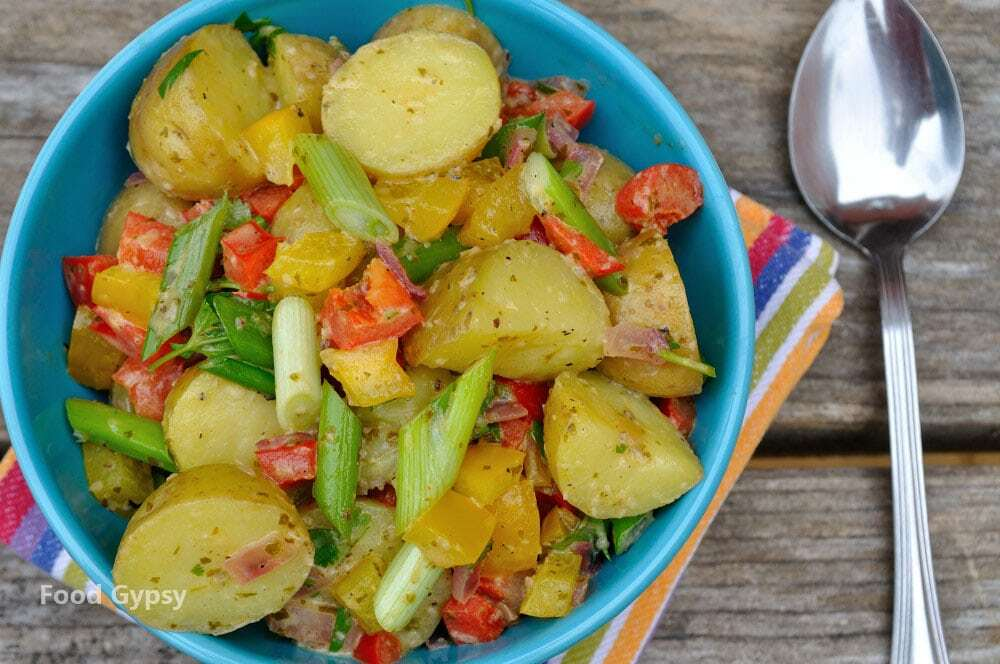 Potato Salad With Lime Cilantro Vinaigrette, Lead - Food Gypsy