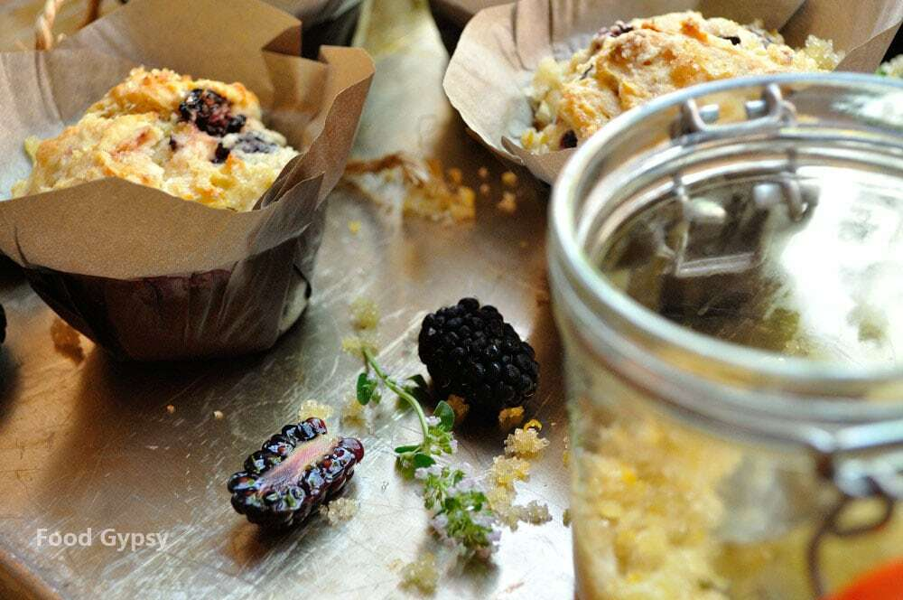 Blackberry Goat Cheese Muffins - Food Gypsy