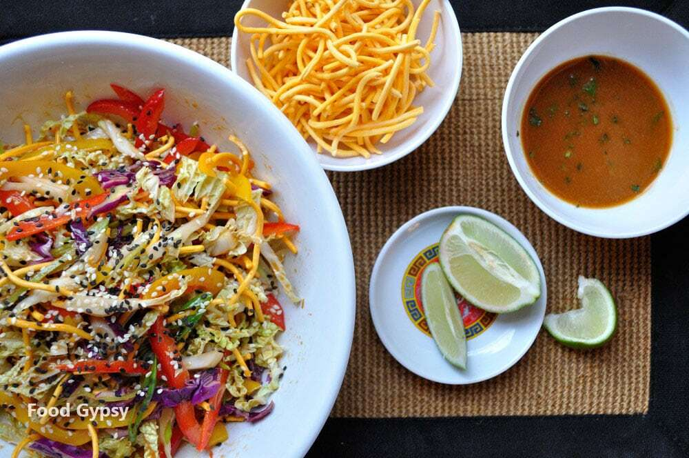 Crispy Asian Noodle Salad, Lead - Food Gypsy