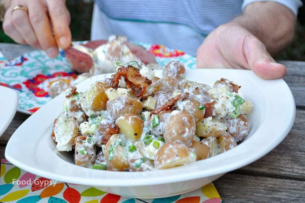 Loaded Baked Potato Salad - Food Gypsy