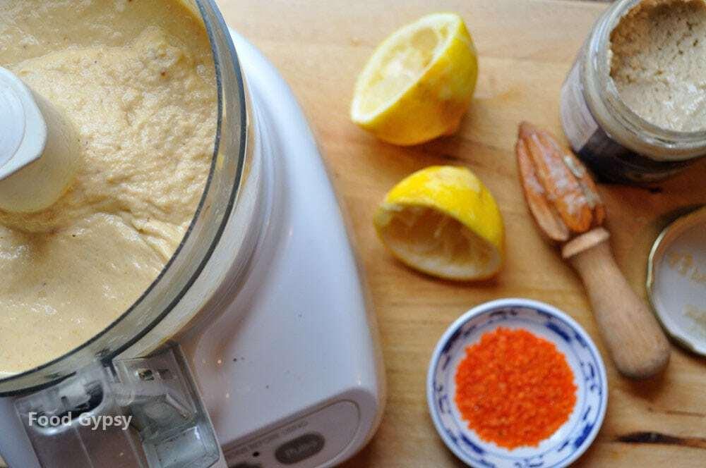 Red Lentil Hummus, Lead - Food Gypsy