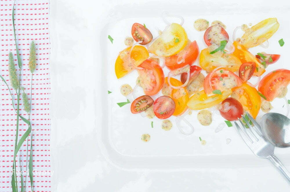 Tomato Salad With Dijon Vinaigrette - Food Gypsy