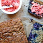Blueberry Quinoa Bran Loaf with Strawberry Chili Butter- Food Gypsy