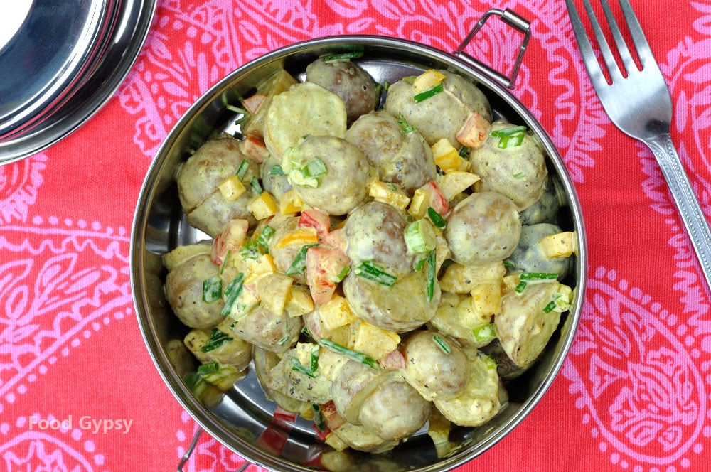 Curried Potato Salad - Food Gypsy