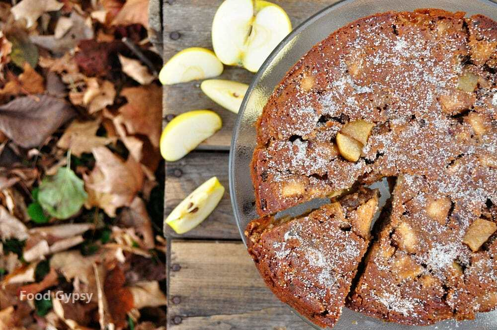 Apple Rum Raisin Cake - Food Gypsy