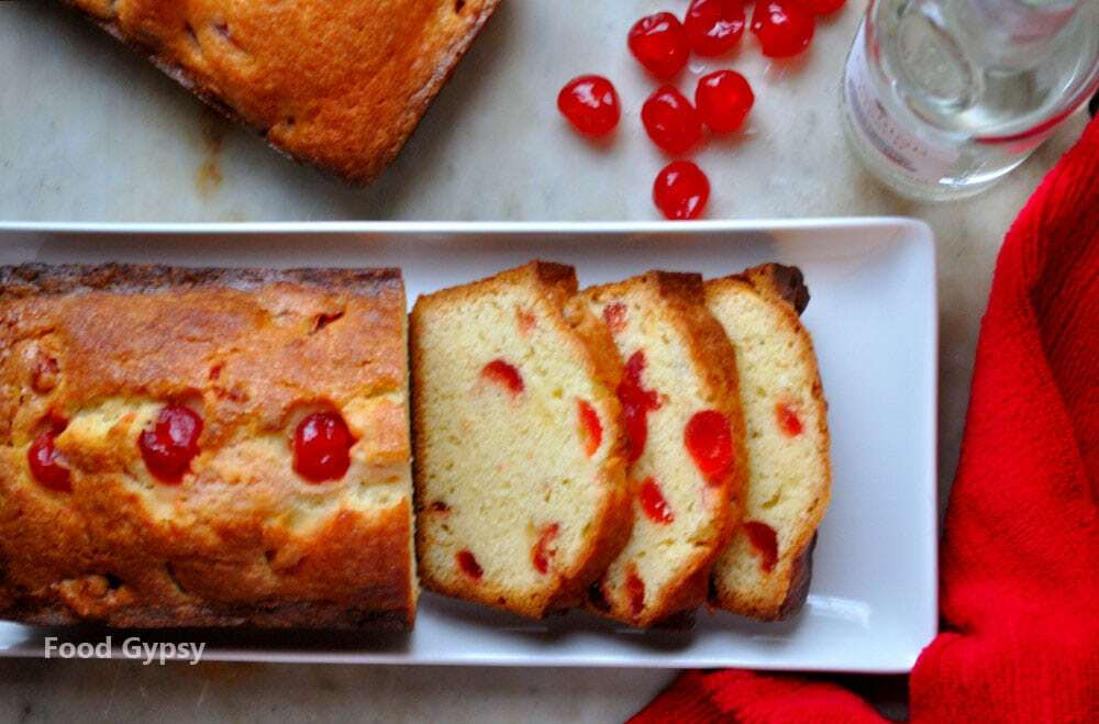 Kirsch Cherry Pound Cake - Food Gypsy