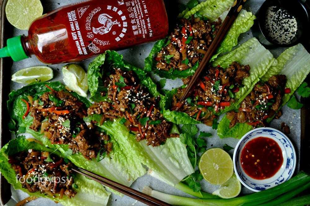 Healthy Asian Lettuce Wraps, Food Gypsy