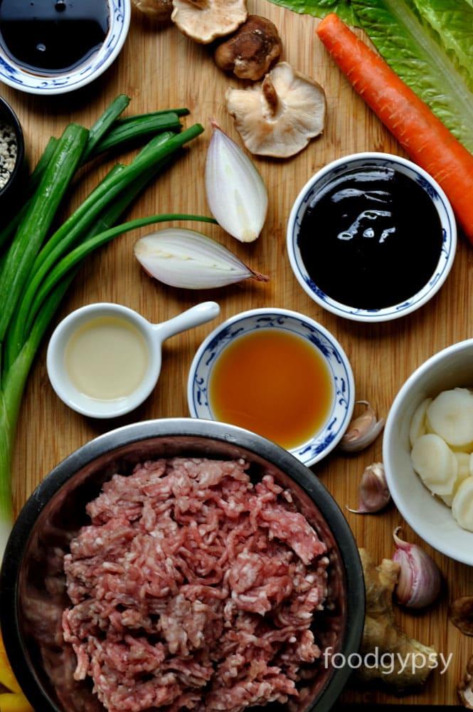 Asian Lettuce Wraps Ingredients, Food-Gypsy