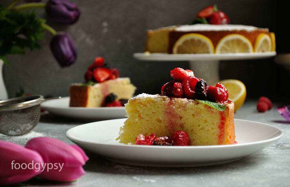 Lemon Ricotta Cake With Berries, Food Gypsy