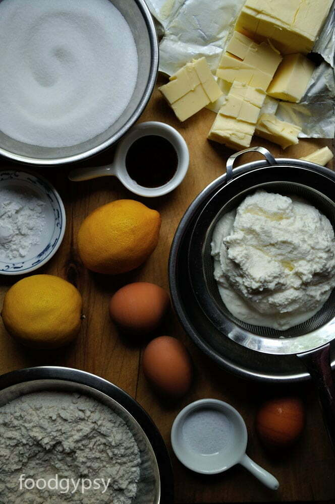 Lemon Ricotta Cake Ingredients, Food Gypsy