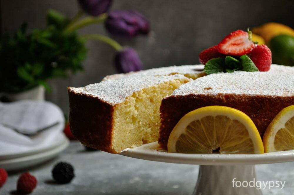 Lemon Ricotta Cake, Slice - Food Gypsy